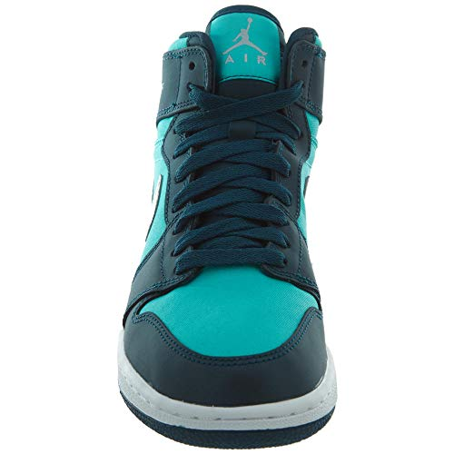 1 Nike Retro midnight Air Donna Verde hyper Jordan Scarpe Silver Da Gg Basket Turq Metallic Jade High UrwrE
