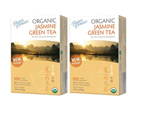 Prince of Peace Organic Jasmine Green Tea 100 tea bags (Pack of 2)