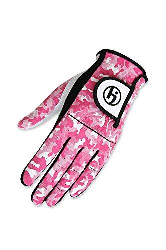 HJ Glove Youth Future Master Golf Glove, Pink Camo, Medium, Left Hand