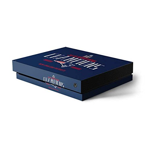 Skinit NFL New England Patriots Xbox One X Console Skin - 2016 Super Bowl LI Champions New England Patriots Design - Ultra Thin, Lightweight Vinyl Decal Protection