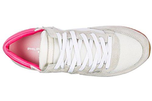 Scarpe Philippe Donna Model Sneakers Nuove Bianco Camoscio Tropez T51vq1x