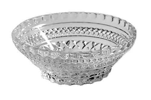 Crimped Edge Bowl (Anchor Hocking Wexford Clear Glass ( 5 1/2