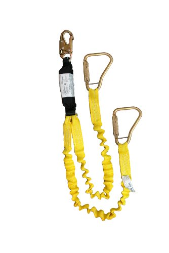 Elk River 36807 Flex-Zorber Energy-Absorbing 2 Leg Nylon/Polyester Web Lanyard with Zsnaphook and Large Carabiner, 3600 lbs Gate, 6' Length x 1-1/2'' Width by Elk River