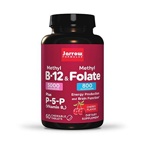 Jarrow-Formulas-Methyl-B-12-Methylfolate-P5P-B6-Lozenges-Cherry-60-Count