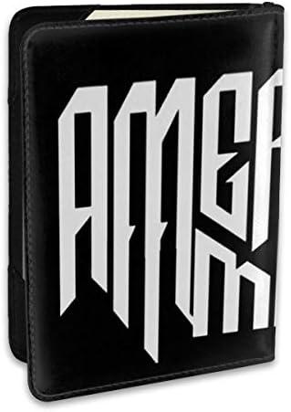 American Me アメリカン・ミー パスポートケース メンズ 男女兼用 パスポートカバー パスポート用カバー パスポートバッグ ポーチ 6.5インチ高級PUレザー 三つのカードケース 家族 国内海外旅行用品 多機能
