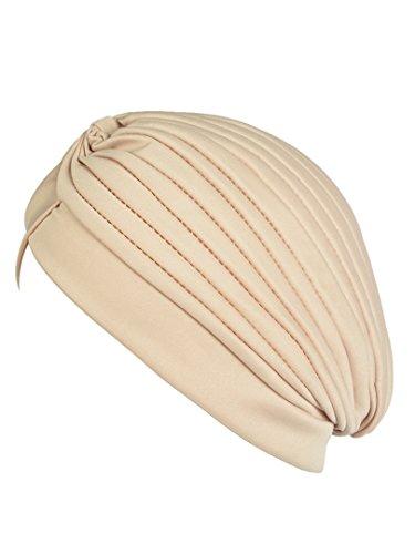 900d10f354f Jual Choies Women s Pleated Head Wrap Knit Bonnet Turban -