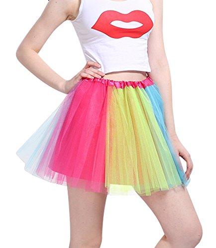 Jupe D'lastique Mini color Robe 3 Pettiskirt Femme Organza Couleurs Imixcity A Couche 12 vqIFHXw