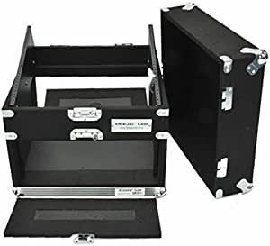 Professional 4u Amp Side 10u Mixer Side Lightweight And Durable Recessed Handles The Friction Fit Front And Rear Doors Are Easy To Fasten And Remove DEEJAY LED TBH4U10SLANTWOOD