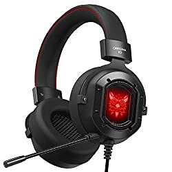 Product Features: ★KINGEAR K3 Gaming Headset equipped premium 50mm dynamic audio driver that offer player 360-degree full range sound field. Rotary volume controller and key microphone mute effectively, which can bring you the best gaming experience....