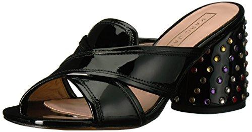 Marc Jacobs Women's Aurora Strass Mule Heeled Sandal, Black, 38 M EU (8 US)