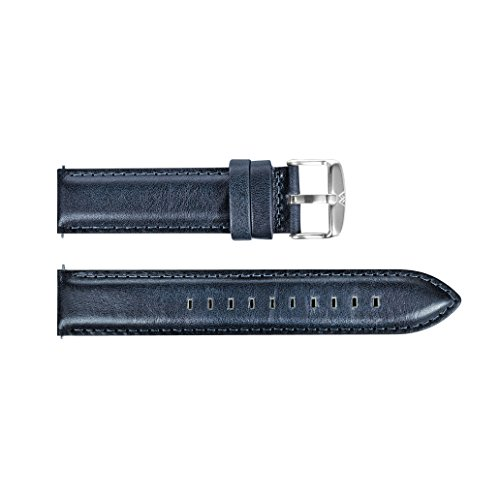 Welly Merck 18mm / 20mm Italy Genuine Leather Strap Interchangeable Band (18mm, Blue-S)