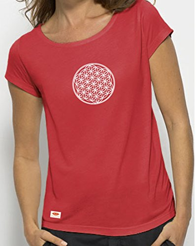 OVIVO-Inspired by Nature - Camiseta Modal Flor de Vida - Hibiscus - Mujer