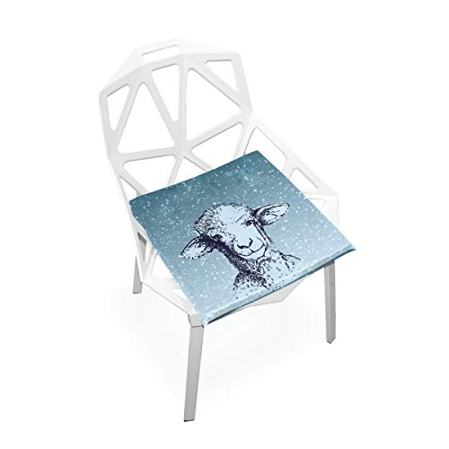 Amanda Billy Wolf in Sheeps Clothing Cushion Perfect Indoor and Outdoor Cushion Double-Layer Comfortable Orthopedic Gel Support Pad Dining Chair Cushion Slip ()