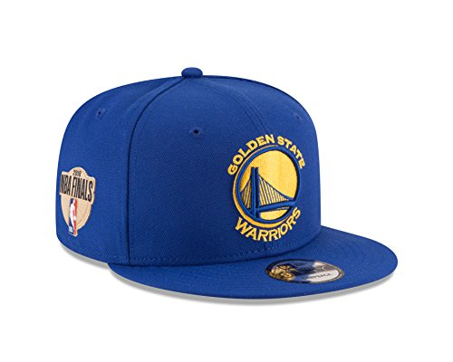 New Era Golden State Warriors 2018 Western Conference Champions NBA FINALS 9FIFTY Snapback Adjustable Hat - Royal