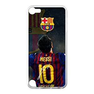 FC Barcelona Lionel Messi Ipod Touch 5 Cell Phone Cases Cover Popular Gifts(Laster Technology)