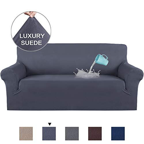 stretch sofa slipcover suede plush