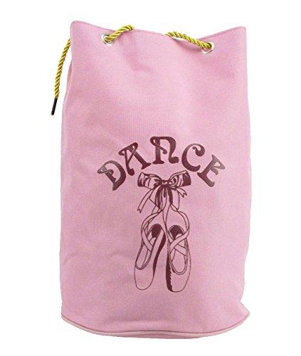 Ballett-Tasche DWS-027 für Mädchen Farbe rosa für Tanz Fitness Sport Freizeit Gymnastik Rucksack Beutel Geschenk