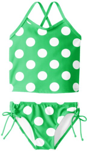 Kanu Surf Little Girls' Toddler Beachball Tankini Swimsuit, Green, 4T