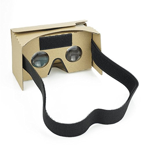 Google Cardboard Kit with Straps by D-scope Pro 3D Virtual Reality Compatible with Android & Apple Easy Setup Instructions Machine - Eyewear Virtual