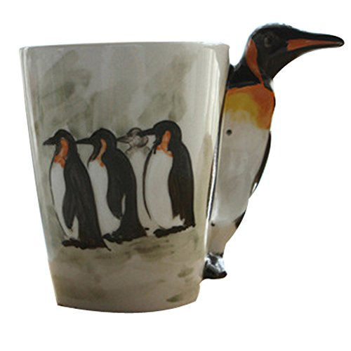 200-300ml Cutie ocean animal ceramic cup/Tea pot /Coffee cup set for Home decoration (Penguin) -