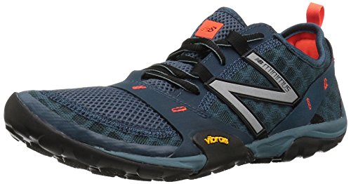 New Balance Men's MT10V1 Minimus Trail Running Shoe, Grey/Orange, 10.5 D US