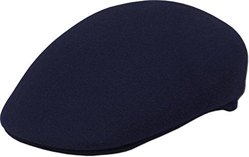 (KBW-08 NAV S/M Wool Felt Ascot Ivy Hat Cap Navy)