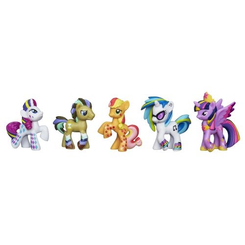 My Little Pony, Rainbow Pony Favorite Set [Dr. Hooves, DJ PON-3, Rarity, Applejack and Princess Twilight Sparkle] (My Little Pony Dj Pon 3 Doll)