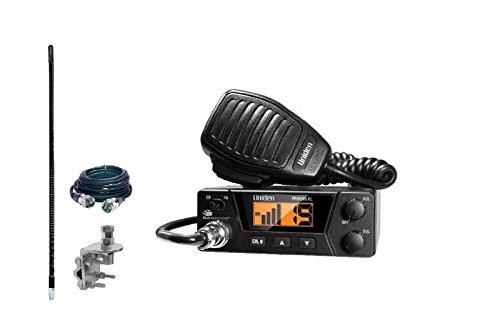 UNIDEN PRO505XL Compact CB Radio & 2` Foot Antenna - 12` Foot Coax / Mount Kit