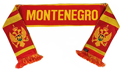 RUFFNECK National Soccer Team Montenegro Unisex-Adult International Team Scarf, One Size, Red