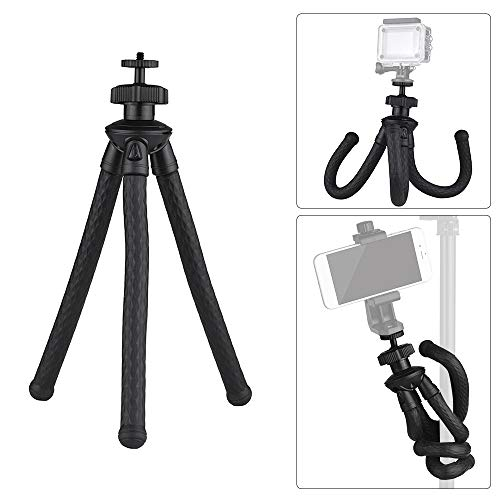 Andoer Universal Flexible Octopus Tripod Handy Tripod Stand 360 Degree Rotation Holder for DSLR ILDC Phone Action Camera by Andoer
