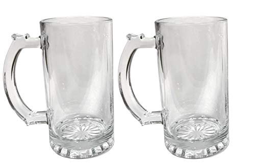 Amlong Crystal Lead Free Beer Mug - 16 oz, Set of 2