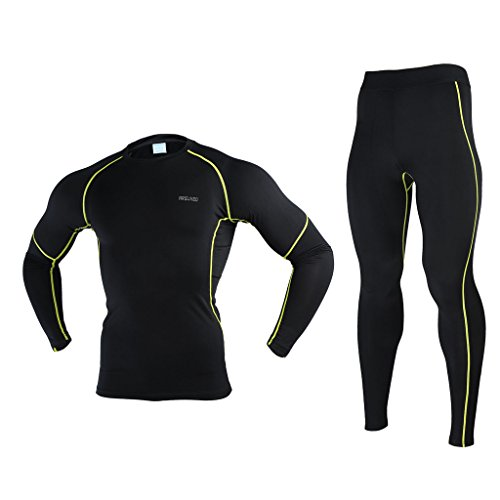 ARSUXEO Winter Warm Up Fleece Compression Base Layers Sui...