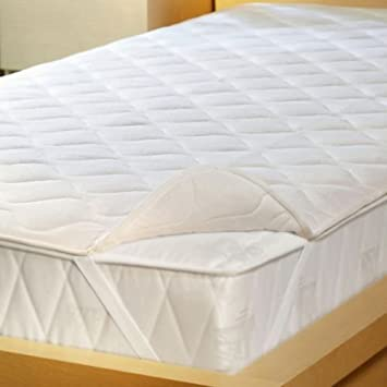 Trance Home Linen Cotton Trance Queen Size Quilted Mattress Protector (White, 78x60inch)