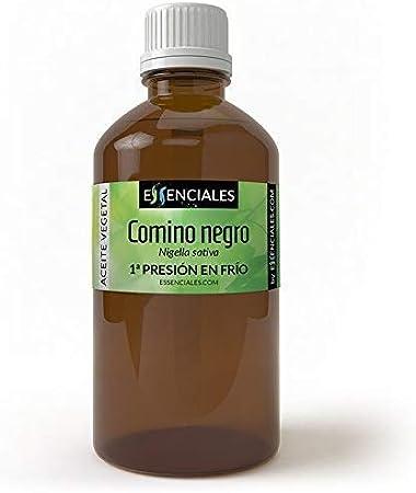 Essenciales - Aceite Vegetal de Comino Negro, 100% Puro y Natural, 100 ml   Aceite Vegetal Nigella Sativa, 1ª Presión Frío
