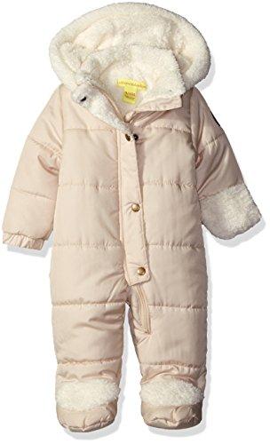 (Catherine Malandrino Baby Girls' Warm Heavy Weight Bubble Pram, Oatmeal Tan, 6-9 Months)