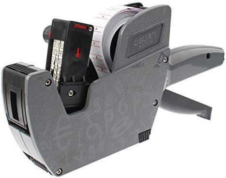 Precio etiquetadora Máquina automática Numeración De Tinta de Alto Rendimiento de Mano de 8 dígitos Precio etiquetadora, Gris (No.7504) (Negro) XY