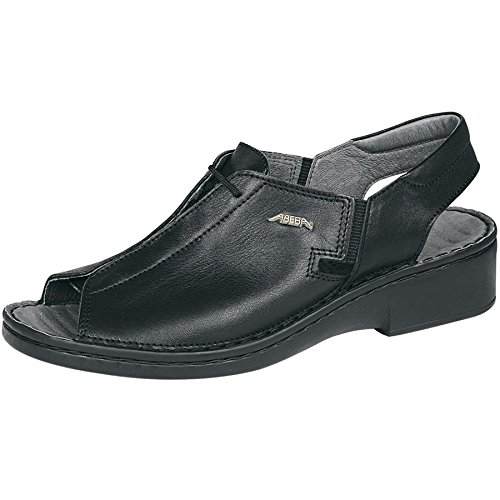 professionnelle Sangles de Abeba 3081 de odeurs talon en anti nbsp;Chaussures Pied Lit bakterienhemmend Cuir Chaussures travail Noir Massage NOIR Femme xwwY1Pvrq