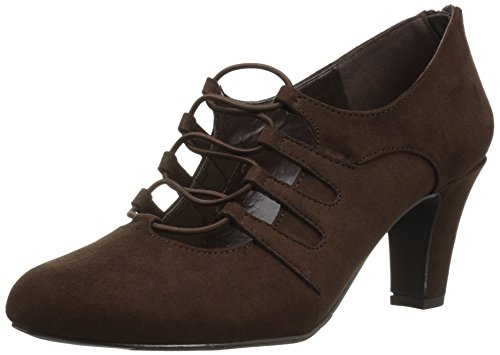 Easy Street Women's Jennifer Dress Pump, Brown Super Suede, 7 N US