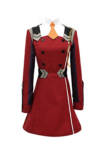 Wish Costume Shop Darling in The FRANXX Uniform Zero Two Cosplay Costume (L, -