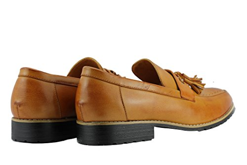 driving on scarpe nero foderato slip da Tan casual nappa Xposed pelle in marrone mocassini uomo 7OAzqY1wYH
