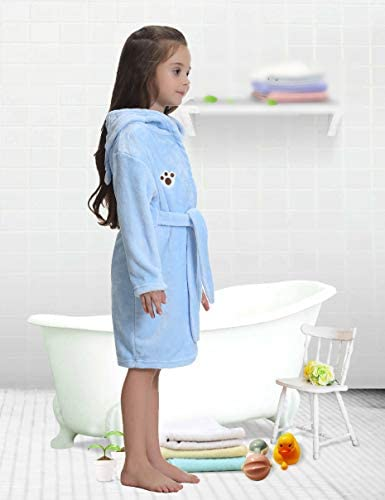 iClosam Kids Unisex Bathrobes Soft Flannel Animal Pajamas Bathrobes Hooded Sleepwear for Girls/&Boys 1-8Years