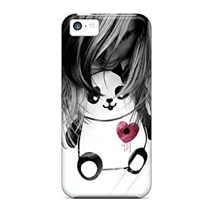 New Snap-on RachelMHudson Skin Case Cover Compatible With Iphone 5c- Heart Hole