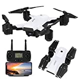 JJRC H78G GPS RC Quadcopter Drone with 1080P HD Camera, 5G WiFi FPV Live Video Drone with Dual Control Mode, Altitude Hold, Follow me, Smart Return Home Foldable Drone for Adults Includes Portable Travel Carry Case (White)