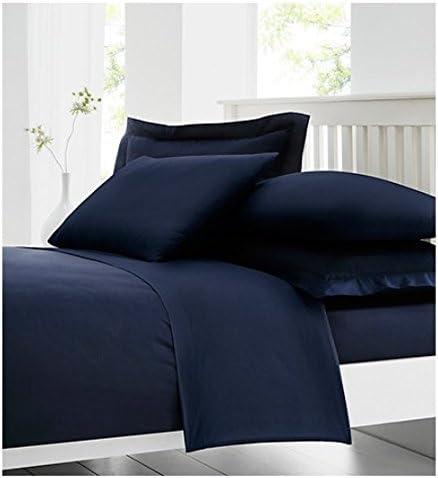 Comodidad de algodón 100% algodón egipcio de 200 hilos sábana bajera ajustable, color azul, solo: Amazon.es: Hogar