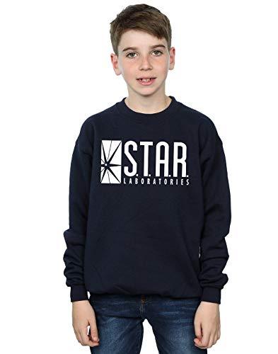 DC Comics Boys The Flash Star Labs Sweatshirt 9-11 Years Navy Blue -