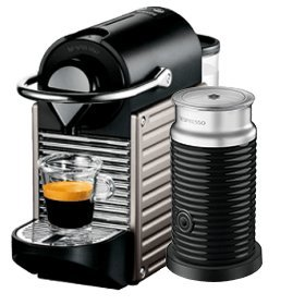 krups nespresso pixie xn301 titanium with aeroccino 3 kitchen home. Black Bedroom Furniture Sets. Home Design Ideas
