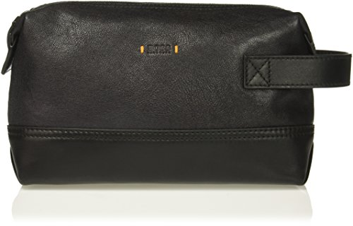 Price comparison product image BOSS Orange Men's Streetline Leather Vanity Washbag, Black