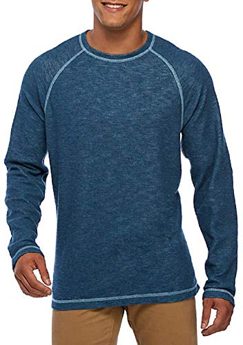 Tommy Bahama Reversible Sweatshirt - Tommy Bahama Fortuna Reversible Crew Pullover (Color: Seagrove Heather, Size L)