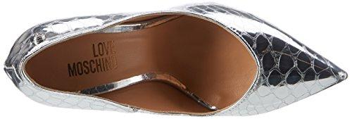 Love Moschino JA1019, Scarpe con Tacco Donna Argento (Silver)