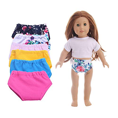 Luckdoll 18 Inch Doll Underwear 6 Set Fits 18 Inch American Girl Dolls